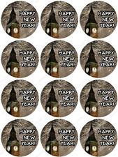 Cakeshop 12 x Happy New Years Eve Edible Cake Toppers