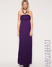 New ASOS Maternity Bandeau Purple Maxi Dress 8