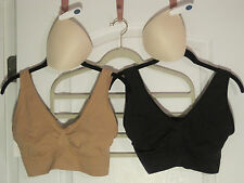 """Rhonda Shear """"AHH"""" Bras (1) Black & (1) Beige with (1) Set of Removable Pads"""