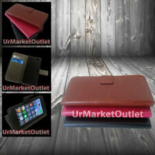 Magnetic Folio Case for Apple iPhone 5/5s w/Credit Card Slots+Screen Protector