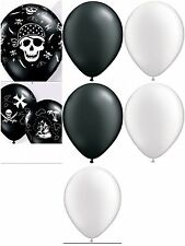 DIY Party Kit for 10 Tables Pirate Theme White Black Balloons Ribbon Weights