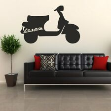 VESPA MOD SCOOTER Wall Sticker lambretta quadrophenia bike bedroom decal vinyl