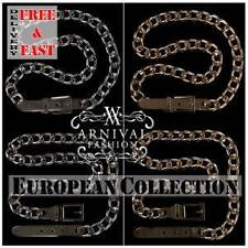 SEXY LADIES CHAIN BUCKLE BELT 4 6 8 10 HOT WOMENS FASHION BELTS ACCESSORY XS S M