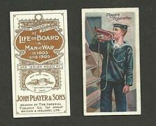 Type Cards: Players LIFE ON BOARD A MAN OF WAR 1805-1905 EX cards.