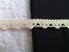 """10 / 144 yards  wholesale roll  natural embroidered gimp 1/2"""" W US SHIPPER"""