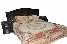 New 3 to 5 Piece Chenille Woven Desert Oasis Persian Rug Quilt Bedspread Set