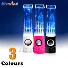 LED Dancing Water Fountain Music Light Mini Speaker for Laptop Ipad 4 Iphone 5s