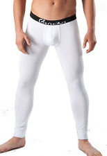 GERONIMO Mens Underwear Winter Cotton Warm Pants White Long Johns