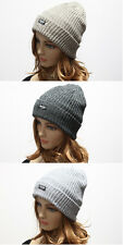 2Tone Colors Knit Baggy Beanie Oversize Winter Hat Skil Slouchy Cap Mens Women's