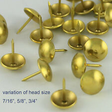 50 pcs upholstery round tack decorative nail furniture rivet brass golden