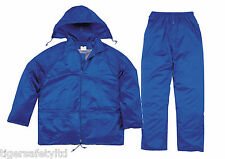 Delta Plus Panoply EN400 Royal Blue PVC Waterproof Rainsuit Trousers Jacket Coat