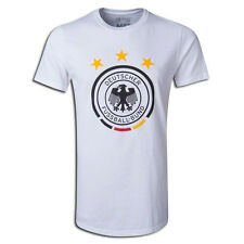 adidas Germany  World Cup WC 2014 Soccer Federation Badge Fan Shirt New White