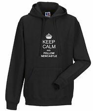 KEEP CALM AND FOLLOW NEWCASTLE FAN HOODY ALL SIZES AVAILABLE