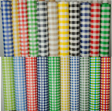 WipeClean Tablecloth Oilcloth Vinyl PVC Gingham Check 140cm  wide