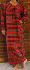 Nightgown Flannel Long Piper Plaid (RED) S – 3XL USA - Best Price!