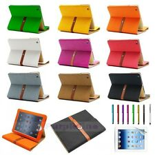 For iPad 2 3 4 Retina Display Luxury Button Buckle Belt Smart Leather Case Cover