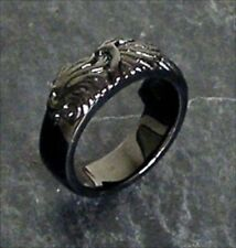 NEW Final Fantasy VIII 8 Black Silver Ring Sleeping Lion Heart free shipping