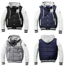 Men Boy Winter Warm Tracksuit Sports Hoodies Jacket Coats Baseball Cardigan