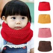 Baby Kid Toddler Boys Girls Red Yellow Coffee Winter Neck Warmer Knitted Scarf O