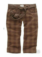 NWT $40 Aeropostale Brown Plaid Capris Capri Pants