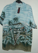 NEW SURFBOARDS & MOTOCYCLES HAWAIIAN SHIRT  choice of size