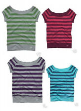 NWT $25 AEROPOSTALE RUGBY STRIPED BALLET NECK TEE
