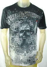 NWT XTREME COUTURE BY AFFLICTION MEN ss HONOR GLORY biker skull mma *M L XL 2XL