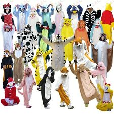 Adult Pyjamas All In One Sleepsuit Romper Onsie Animal Zoo Onesie Fancy Dress