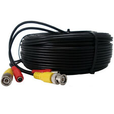 20FT CCTV CAMERA CABLE SURVEILLANCE WIRE VIDEO CORD POWER SECURITY LOT OF 2 3 4
