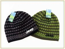 New *Jeep* Classic High Quality Casual Snowboard Beanie Hats Black/Green Colors