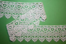 "6 Metres White Guipure Lace Trim Top Quality 2.75"" Costume Wedding Cards Bride"