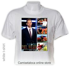 PAUL WALKER T shirt - R  I  P  1973 - 2013  AMERICAN ACTOR - PICTURE / COLLAGE