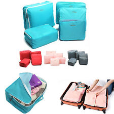 5x Travel Storage Luggage SuitcaseTidy Organizer Clothes Pouch Bag Case 4 Color