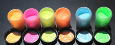 GLOW in the DARK Daytime Visible & UV Re-active 1oz x 6 COLOR PAINT SET (6oz)