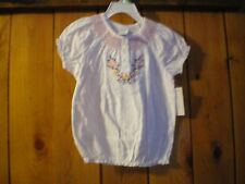 NWT infant toddler white embroidered peasant shirt choose size 12 mo or 3T