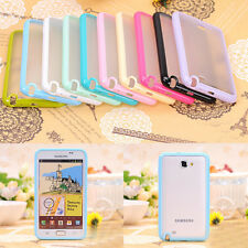 Hard Transparent Back Soft Bumper Case Cover FOR SAMSUNG GALAXY NOTE i9220 N7000