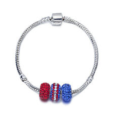 Janeo Swarovski Crystal Elements Bracelet Shamballa Style Christmas Gift For Her