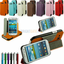 Tri-Fold Honeycomb Leather Wallet Pouch Stand Case for Samsung Galaxy S3 i9300