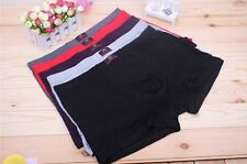 Mens Sexy Breathable Bamboo Fiber Underwear Boxer Briefs Shorts Large Size