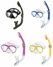 Head Combo Marlin Mask Snorkel Set Scuba, Diving, Free Dive, Snorkeling