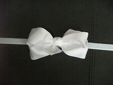 INFANT, BABY, TODDLER, GIRLS HEADBAND HAIRBAND WITH RIBBON BOW, WEDDING BOW