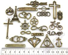 Wholesale Infinity Heart Cross Love Anchor Charms Connector Pendants Pick DY51