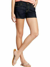 NWT OLD NAVY DARK DENIM DIVA BLUE JEAN SHORTS LOW RISE