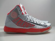 New Nike Men Hyperdunk Plus Silver/Crimson 524948-002 ***