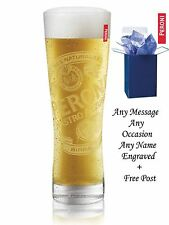 Personalised Engraved Branded 1 pint Peroni Lager Beer Glass With Gift Box