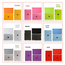 Magnetic Smart Cover+Crystal Clear Color Back Cover Case for iPad Wake / Sleep
