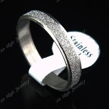 50pcs For Womens Men Stainless Steel Frosted Silver Rings Wholesale Jewelry Lots