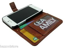 Leather Wallet Case Folding Stand Cover with Credit Card ID Slot for iPhone 5S 5