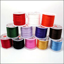 Bluk 4Pcs Mix Colors Crystal Stretch Elastic Beading Thread Cords Wire 0.5mm Dia