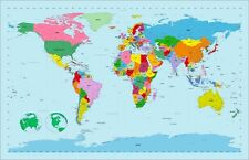 Map of the World Map Art Print Poster - u298